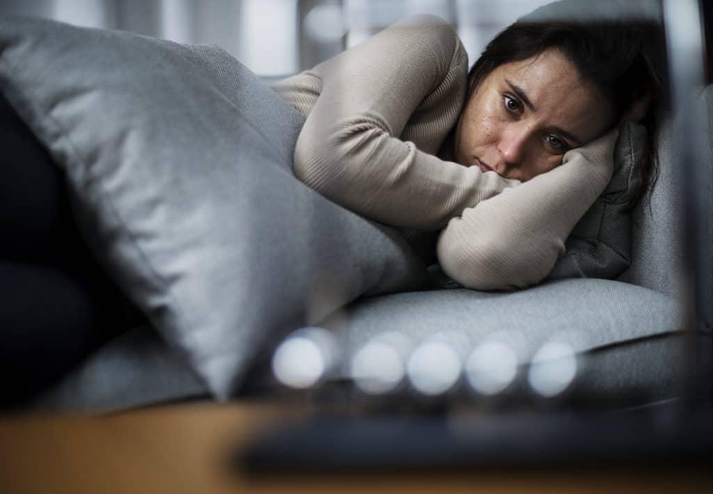 a woman feeling depressed
