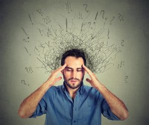 image of a man showing signs of stress